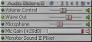 Audio Sliders