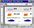 3.5 Inch Disk Label Creator for Word
