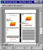 ZIP Disk Jewel Case and Label Creator for Word