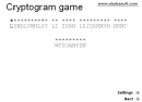 Crypto-gram words puzzle