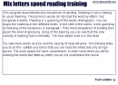 Mix letters speed reading training