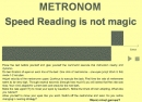 Metronome for speed reading