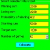 Smart Gambler's Calculator for Palm OS