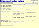Key words perception Speed reading