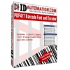 IDAutomation PDF417 Font and Encoder