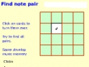 Note pair, un juego en l�nea. (NotePair online game)