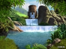 Waterfalls and Ancient Gods screensaver
