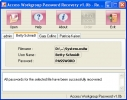 Access Workgroup Password Recovery