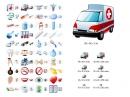 Conjunto de Íconos para Medicina (Medical Icon Set) 3.04