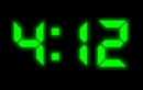 XClock Digital Clock Screen Saver