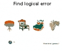 Juego de ni�os para encontrar errores l�gicos (Kids game find logic error)
