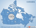 Canada Flash map with FLA source