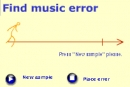 Find error at the melody ear training