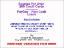 Credit Cards - Sources for over 200 credit cards and PayDay Loans