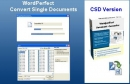 WordPerfect Converter Single Document