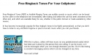 Free Ringback Tones