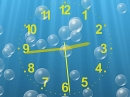 Salvapantallas de reloj submarino con burbujas. (Underwater Clock Bubbles Screensaver)