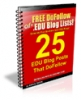 Free DoFollow Blog Lists EDU