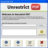 Unlock PDF Restrictions