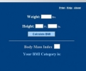 BMI Index Calculator