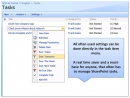 Enhanced SharePoint User Tasks Menu