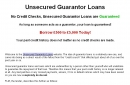 Guarantor Loans Application