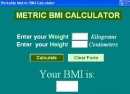 Portable Metric BMI Calculator