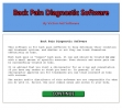 Back Pain Diagnostic Software