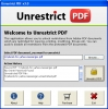 PDF Restrictions Removal