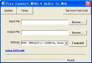 Free Convert MPEG-4 Audio to M4A