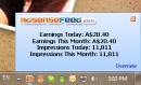 Adsense Earning System tray Tracker