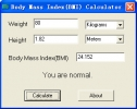 Body Mass Index(BMI) Calculator