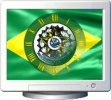 NFS Brasil Flag Clock