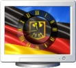NFS Germany Flag Clock