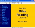 Portable Bible Reading Calendar