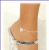 White Gold Anklets - Puzzle