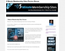 5 Minute Membership Sites Bonus