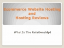 E-commerce Host: E Commerce Host