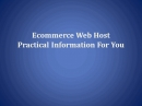 Ecommerce Webhost: E commerce Webhost