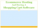 E-commerce Hosts: E Commerce Hosts