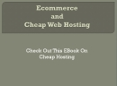 Webhost Ecommerce: Web Host E-Commerce