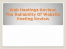 Website Host Review: Hosting Reviews