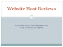 Website Host Reviews: Hosts Review