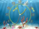 Aqua Fish Clock ScreenSaver