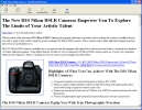 D3S Nikon DSLR Camera Information