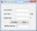 DBM Loan Calculator