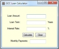 Calculadora para Cr�ditos GCC (GCC Loan Calculator)