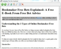 Ebook: Bookmaker Free Bets Explained - Ebook: Corredor de apuestas las Mejores Apuestas Explicadas (Ebook: Bookmaker Free Bets Explained)