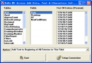 Fans MS Access Add Data Text Characters