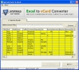 Excel Contacts to vCard Conversion